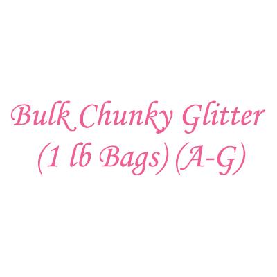 Bulk Chunky Glitter (1 lb Bags) (A-G)
