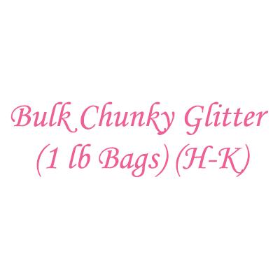 Bulk Chunky Glitter (1 lb Bags) (H-K)