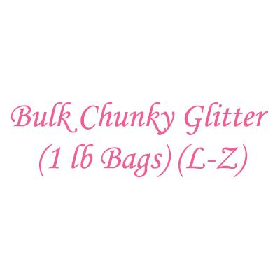 Bulk Chunky Glitter (1 lb Bags) (L-Z)